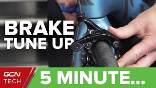 5 Minute Rim Brake Tune-Up | Cable Tension, Ferrules & Toeing In Brake Pads