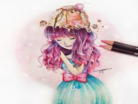 ice cream girl speed paint