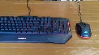 Features and Usage of the ASUS Cerberus Gaming Keyboard and Mouse