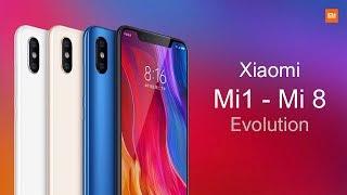 Xiaomi Mi 1 - Mi 8 Smartphone Evolution