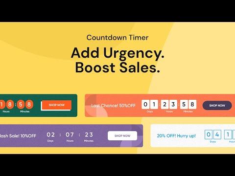 sales countdown timer bar