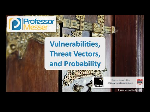 Vulnerabilities, Threat Vectors, and Probability - CompTIA Security+ SY0-401: 2.1