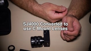 SJ4000 Action Cam Converted to use C Mount Lenses