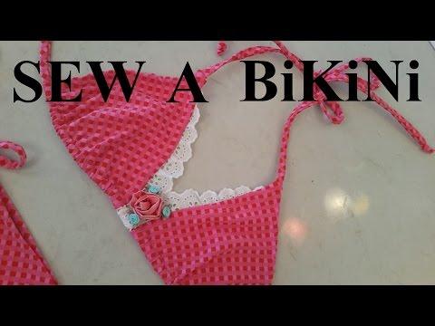 how to sew a string bikini