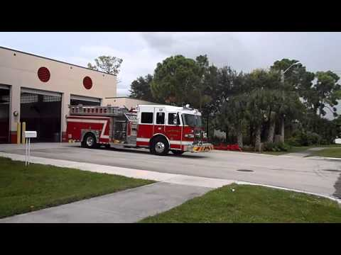 Palm Beach County Fire-Rescue *NEW* Rescue 19 Responding Cold