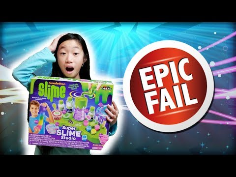 NICKELODEON SLIME KIT SUPER SLIME STUDIO EPIC FAIL!!! OMG SO MANY THINGS WENT WRONG!!!