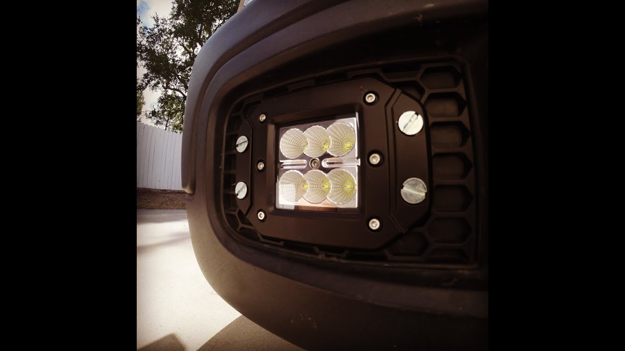 Flush Mount Cree Led Fog Lights Youtube