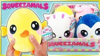 Новий SQUEEZAMALS ароматичні Джамбо плюшеві рукою Squishies в Walmart Squishamals іграшки огляд   вірний іграшковий канал