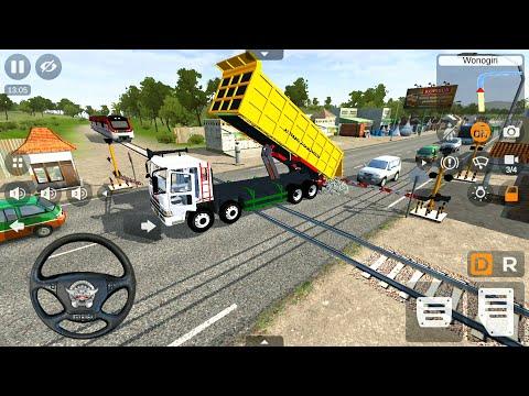 Bus Simulator Indonesia Truck Mod   Mitsubishi Fuso Dump Truck Driving – Android Gameplay