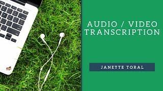 Audio & Video Transcription (Lesson 3)