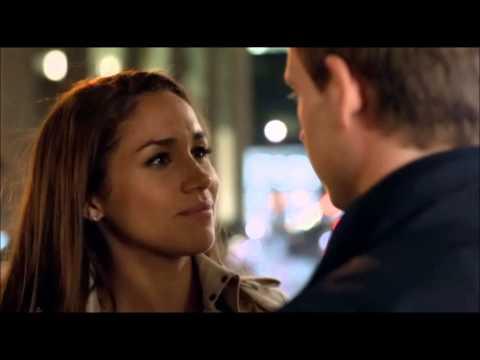Rachel and Mike kiss  Suits ( Meghan Markle , Patrick J Adams )