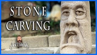 STONE CARVING - BECAUSE I DIDN'T HAVE A PUMPKIN ~ Artismia Sculpture