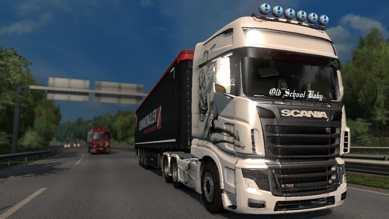 Euro Truck Simulator 2   Mods   Scania R700 1.27 - YouTube