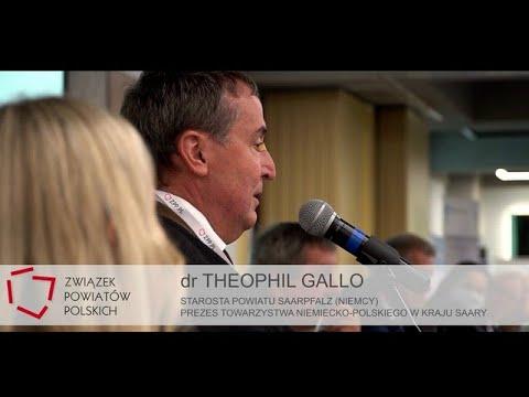 Wystąpienie dr. Theophila Gallo - Starosty Powiatu Saarpfalz (Niemcy) podczas XXVI ZO ZPP