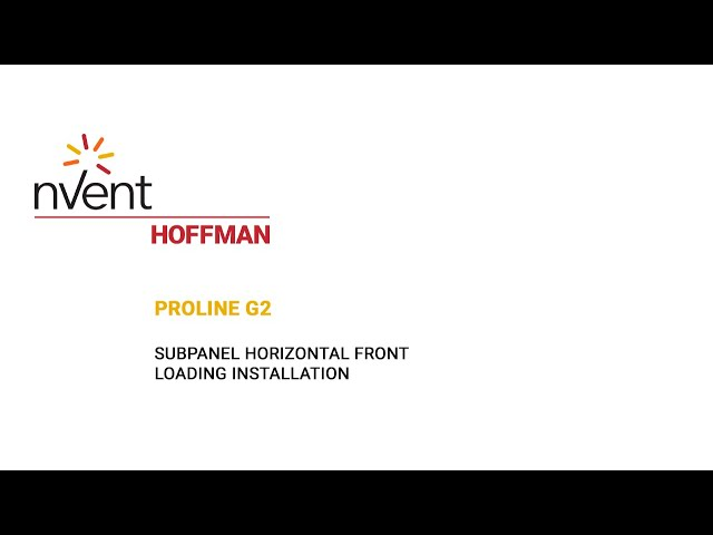 ProLine G2 Installation Video – Horizontal Front Loading | nVent HOFFMAN