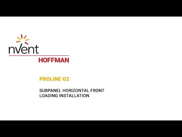 ProLine G2 Installation Video – Horizontal Front Loading | nVent HOFFMAN