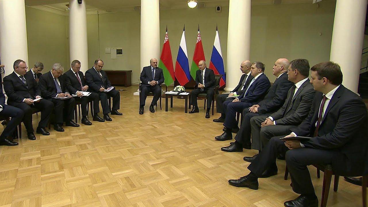 В Петербурге прошли переговоры Владимира Путина и Александра Лукашенко.