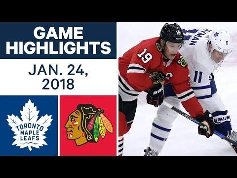 NHL Game Highlights   Maple Leafs vs. Blackhawks — Jan. 24, 2018