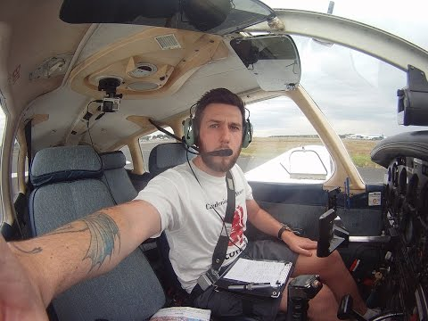 Piper archer Prestwick to Stirling Castle with ATC