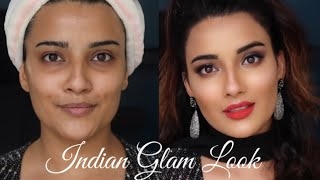 STEP BY STEP RETRO INDIAN GLAM MAKEUP LOOK | IN HINDI | SMOKEY EYES | SUGAR