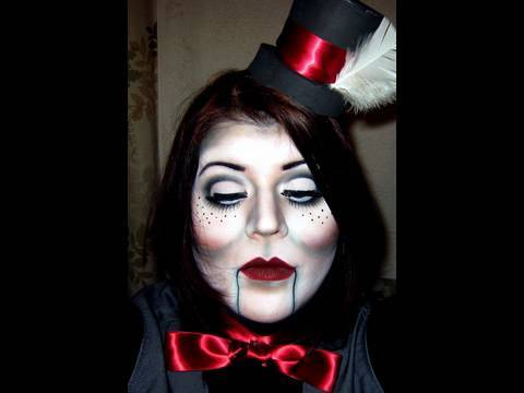 halloween makeup ventriloquist dummy youtube. Black Bedroom Furniture Sets. Home Design Ideas