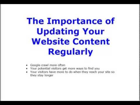The Importance Of Updating Your Website Content Regularly