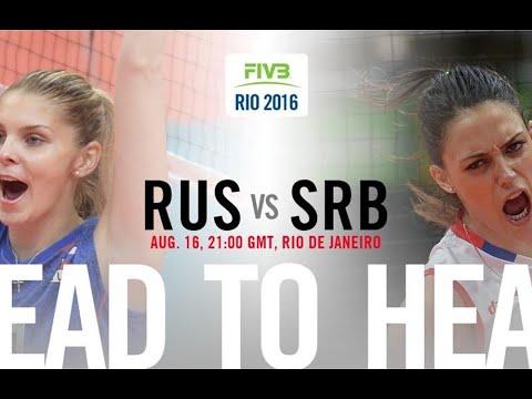Russia Vs Serbia - Rio 2016 Volleyball Women's Quarter Finals Full Match - BBC Coverage