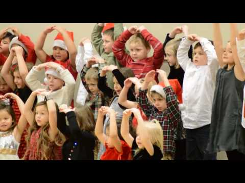 Ellie's Warroad Elementary School Kindergarten Class Christmas concert 2016 song 4
