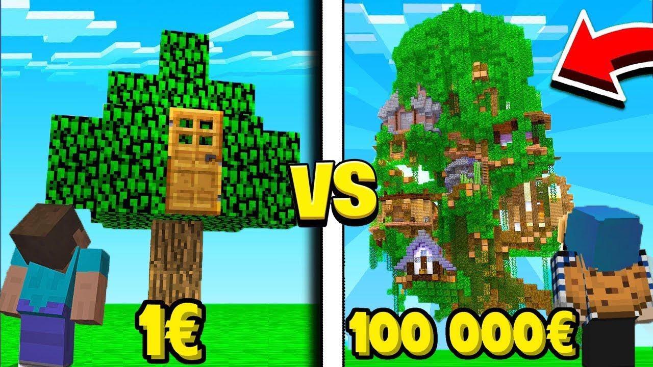 Maison à 1€ vs maison à 1 000 000€ dans minecraft 💲💵