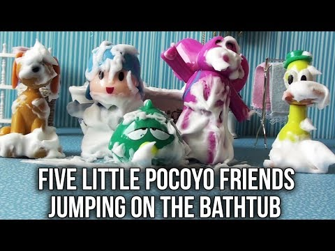 Five Little Pocoyo Jumping On the Bathtub #3 | Five Little Monkeys Jumping on the Bed Nursery Rhymes