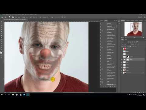 Создание страшного клоуна из фото в Фотошопе