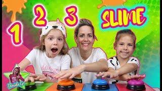 1 2 3 SLIME CHALLENGE!! UN DOS TRES SLIME CHALLENGE EN FAMILIA!!! Juegos con Slime