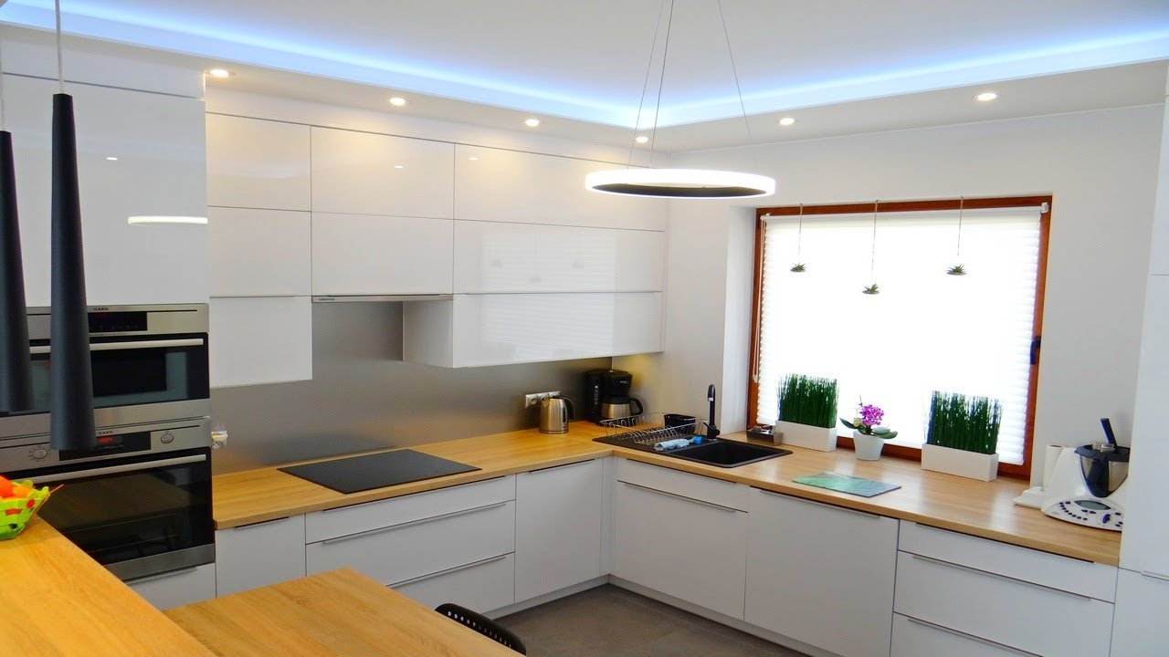 White Kitchen With Wood 2019