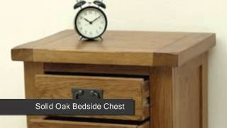 Cotswold Rustic Solid Oak Bedside Chest