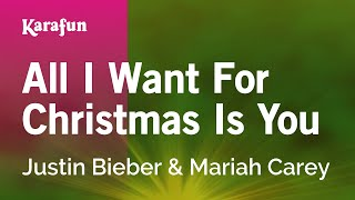 Karaoke All I Want For Christmas Is You - Justin Bieber *