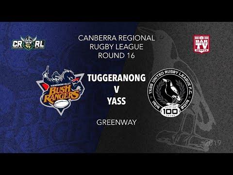 2019 Canberra Region Rugby League Round 16 - Tuggeranong Bushrangers V Yass Magpies