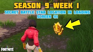 Fortnite - SEASON 9 WEEK 1 UTOPIA CHALLENGES SECRET BATTLE STAR LOCATION IN LOADING SCREEN #1.
