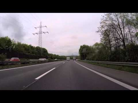 Allemagne Autoroute vers le Luxembourg, Gopro / Deutschland Highway to Luxembourg
