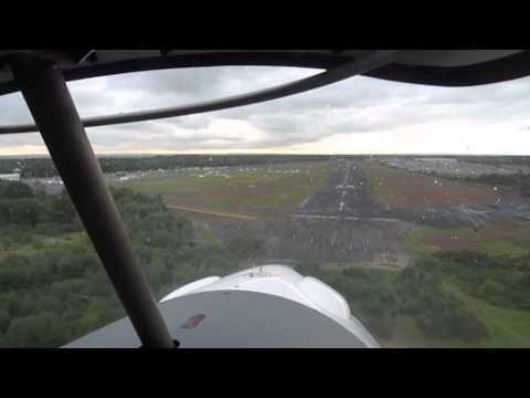 Landing at Blackbushe Airport in an Ikarus C42