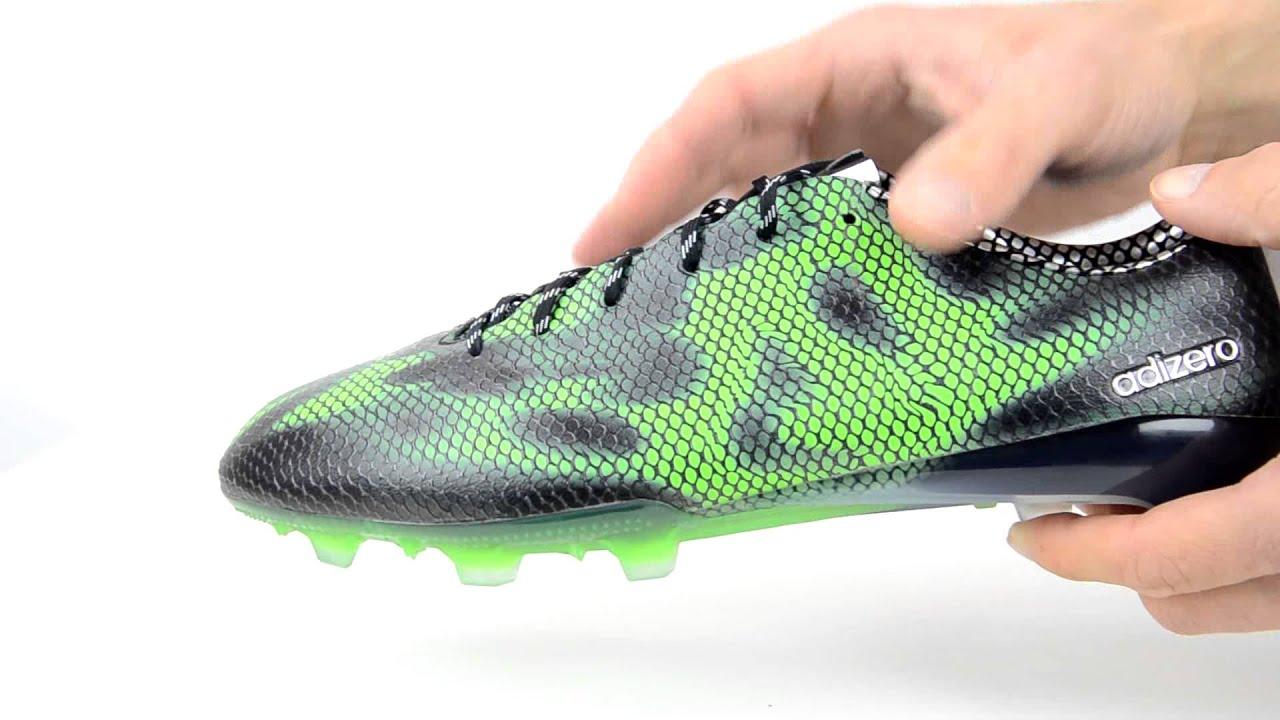adidas f50 adizero fg black green