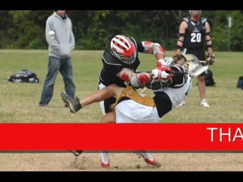 Big lacrosse hit ladies and gentleman - YouTube