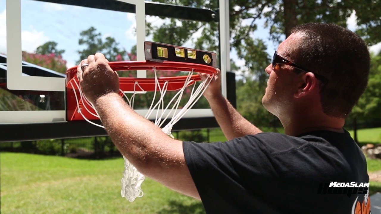 How to install a basketball hoop part 2 mega slam hoops for How to build a basketball goal