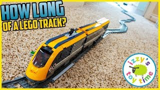 HOW LONG CAN WE MAKE THIS LEGO TRAIN?!?! Fun Toy Trains for Kids!