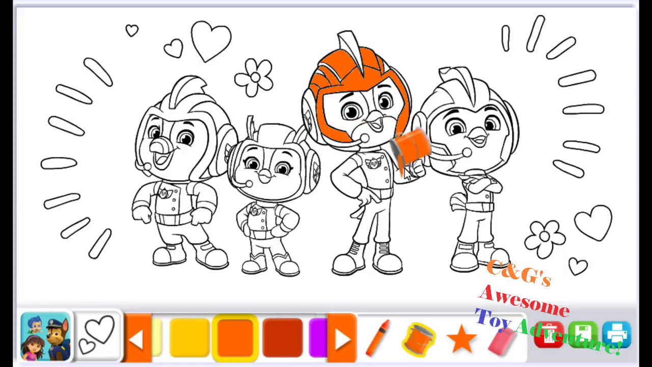 Top Wing Coloring with Nick Jr