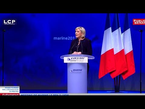 REPLAY. Discours de campagne de Marine Le Pen à Lyon