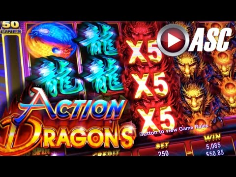 *NEW SLOT* ACTION DRAGONS - DEMO PLAY @AINSWORTH GAME TECHNOLOGY (Vegas) Slot Machine - 동영상