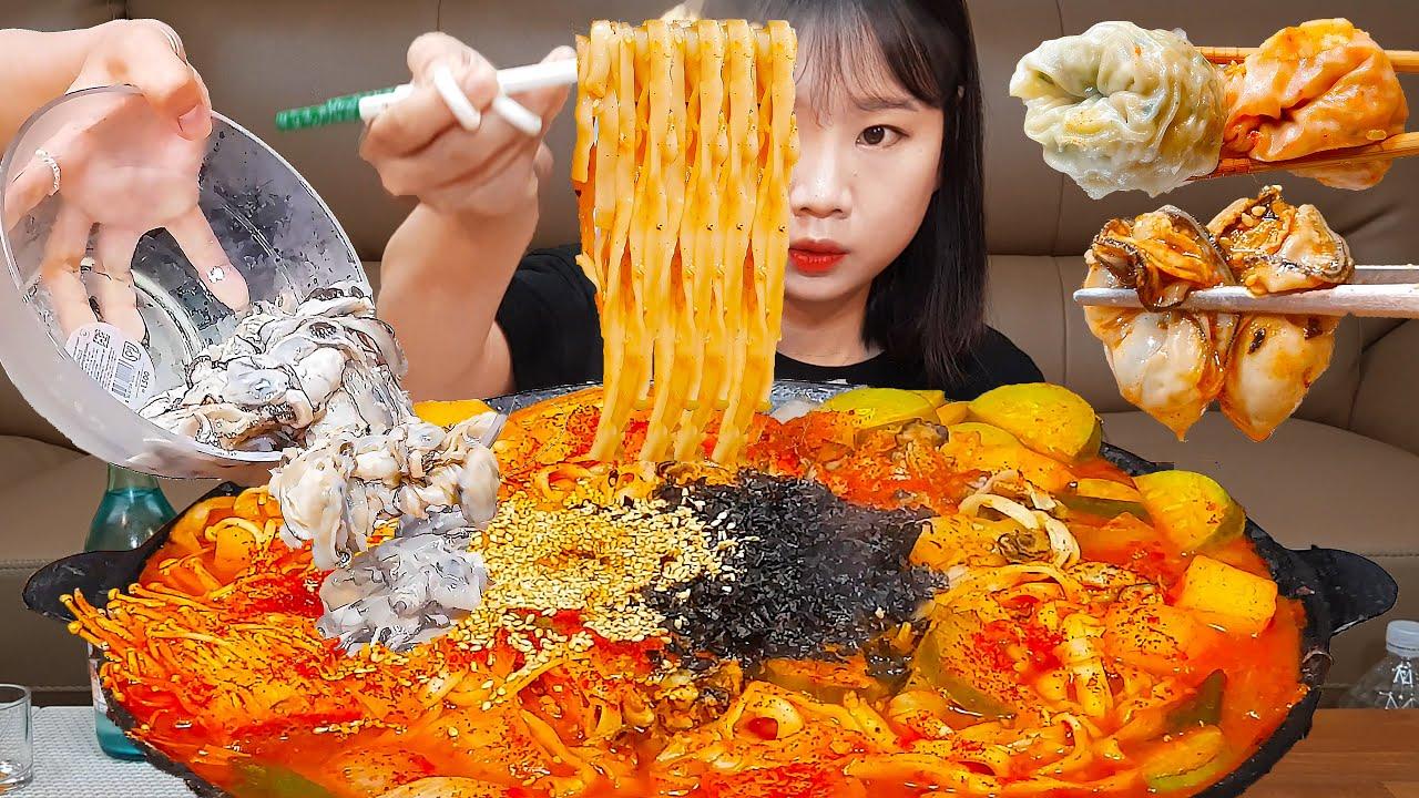 혼술과 해장이 동시에 되는 기적의 음식..?! 🍜🍶 OYSTER SPICY NOODLE MUKBANG ASMR EATINGSHOW REALSOUND 먹방