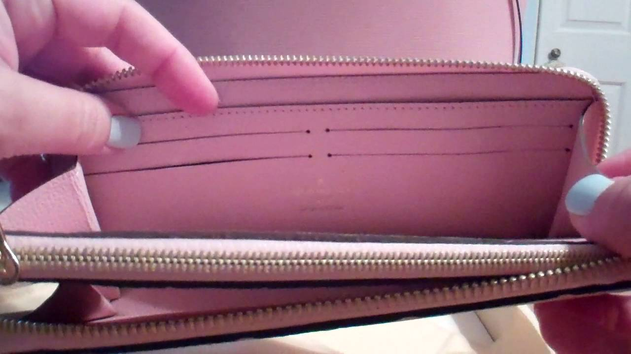 f11f14140ed2 Louis Vuitton Empreinte Clemence Wallet Rose Ballerine Reveal - YouTube