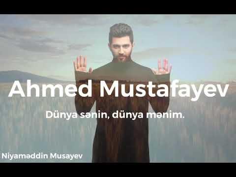 Ahmed Mustafayev – Dünya Sənin, Dünya Mənim | 2020 (Kover)