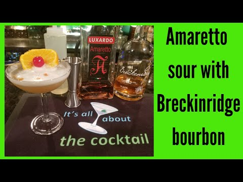 Awesome Amaretto Sour with Breckenridge bourbon - A must try! /it's all about the cocktail